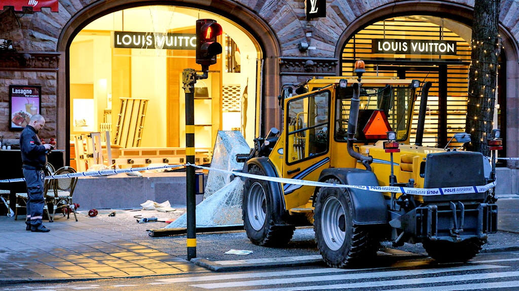 Smash and grab på Birger Jarlsgatan