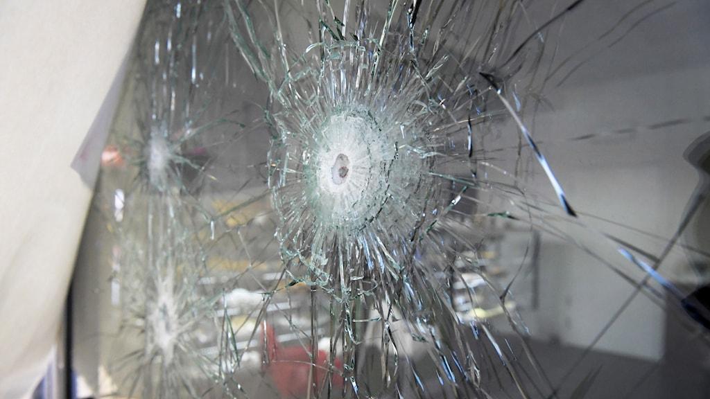 bullet holes in Rinkeby