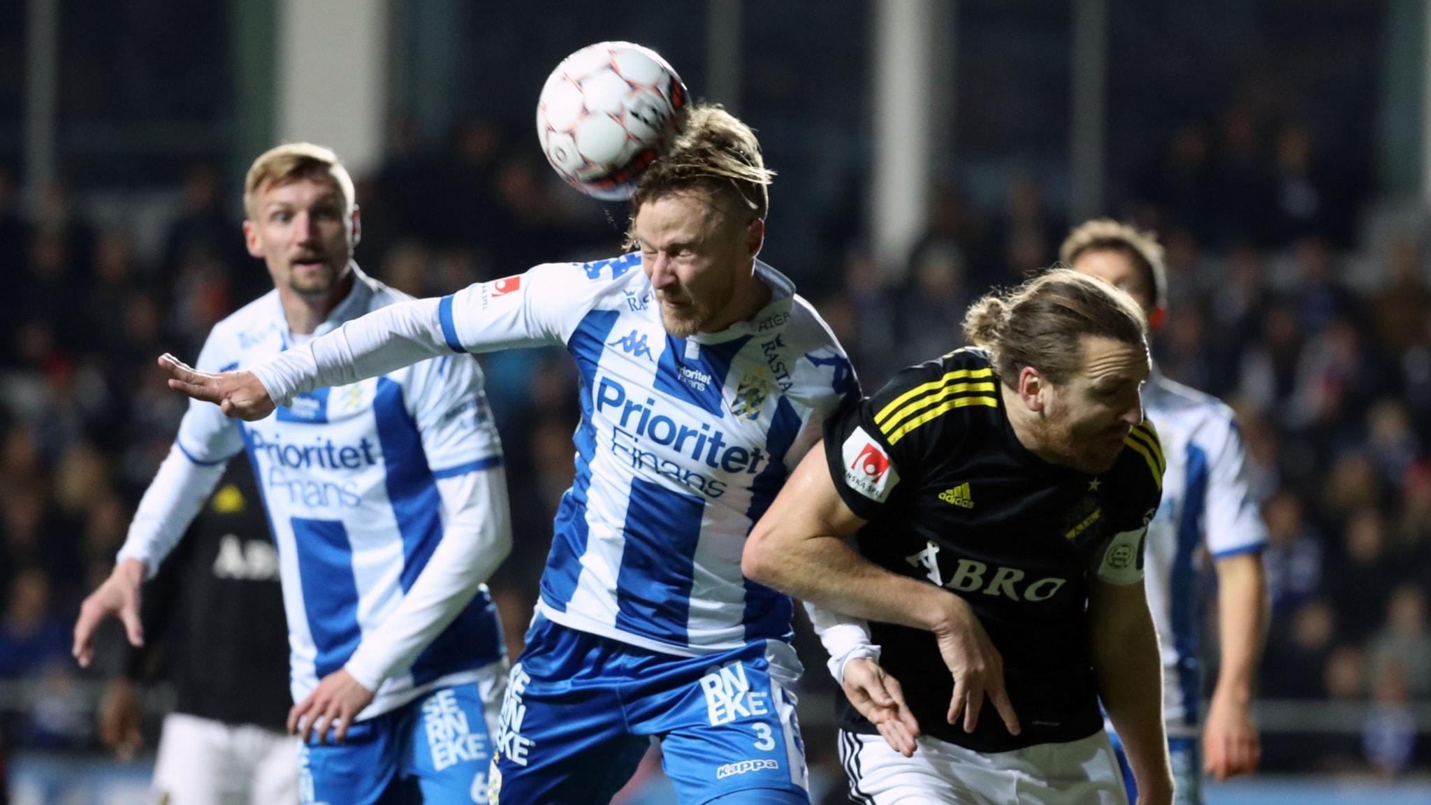 Match ställdes in för att spelare blev hotad