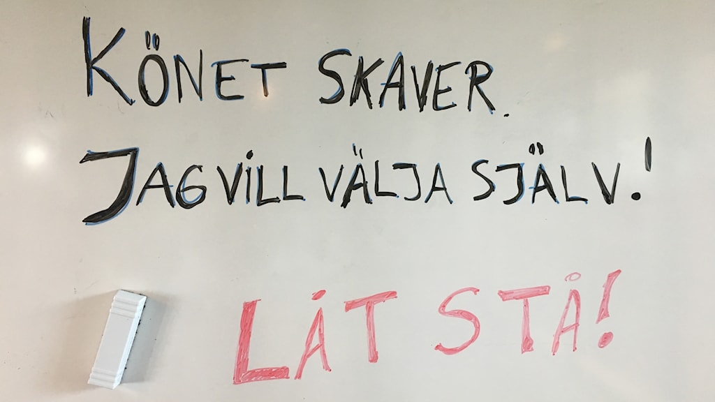 whiteboard med text