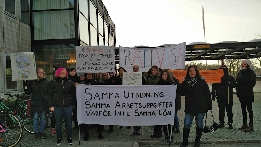 Demonstration i Ronneby