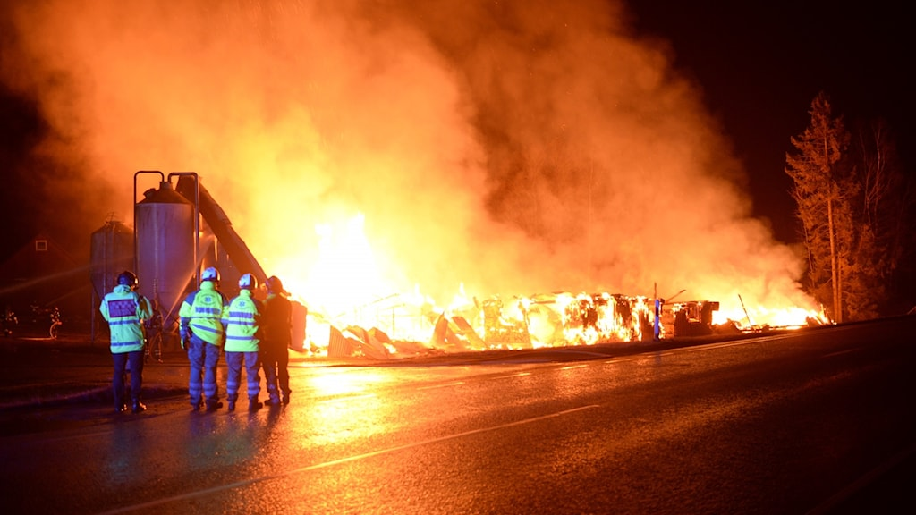 Fire in the Össlöv, north of Ljungby.
