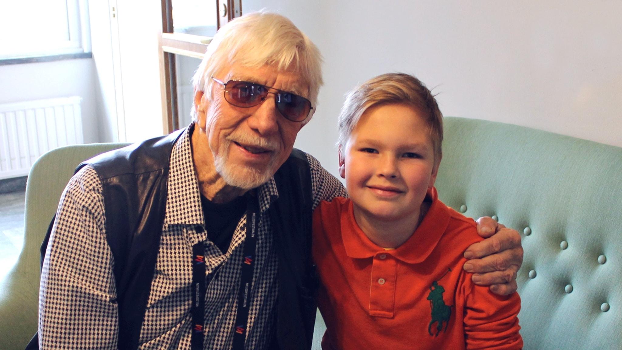 Elvaårige Wille fick träffa sin stora idol Owe Thörnqvist