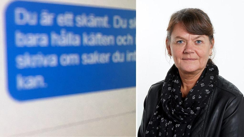 Lena Langlet kollage om näthat