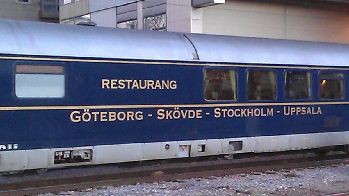 blå tåget meny