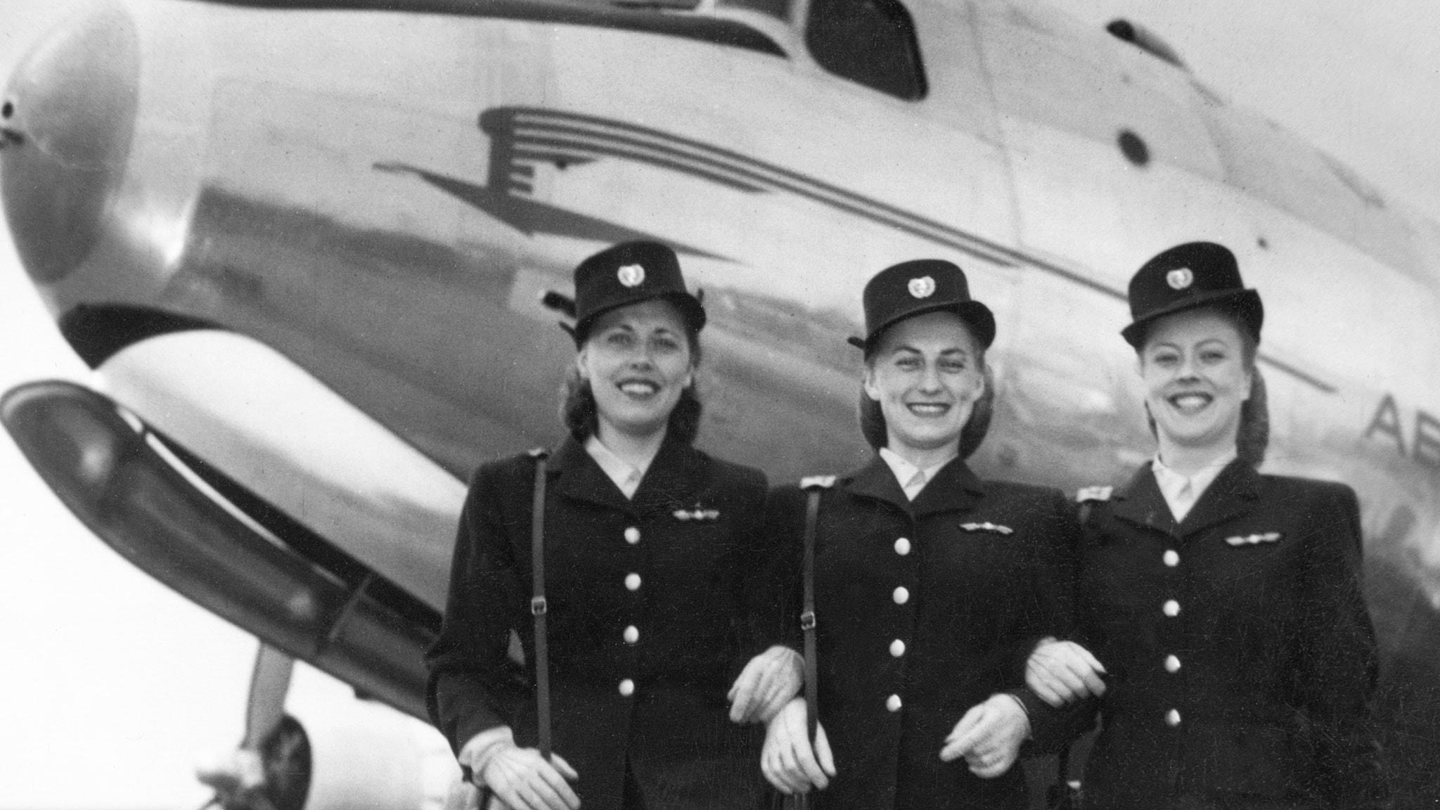 Flygvärdinnor ombord 1947