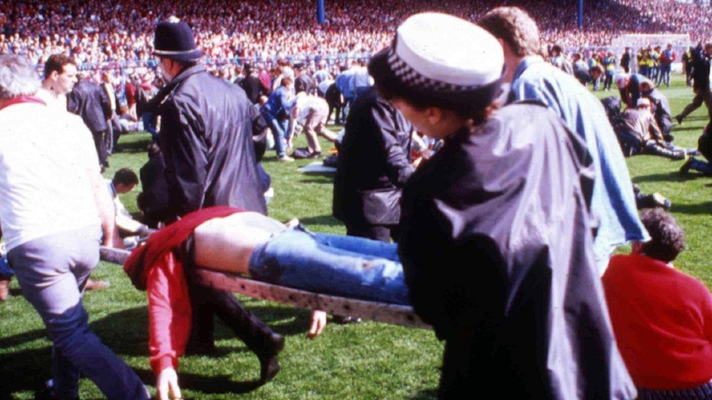 April 15, 1989 Katastrofen på arenan Hillsborough. Foto: AP/Scanpix