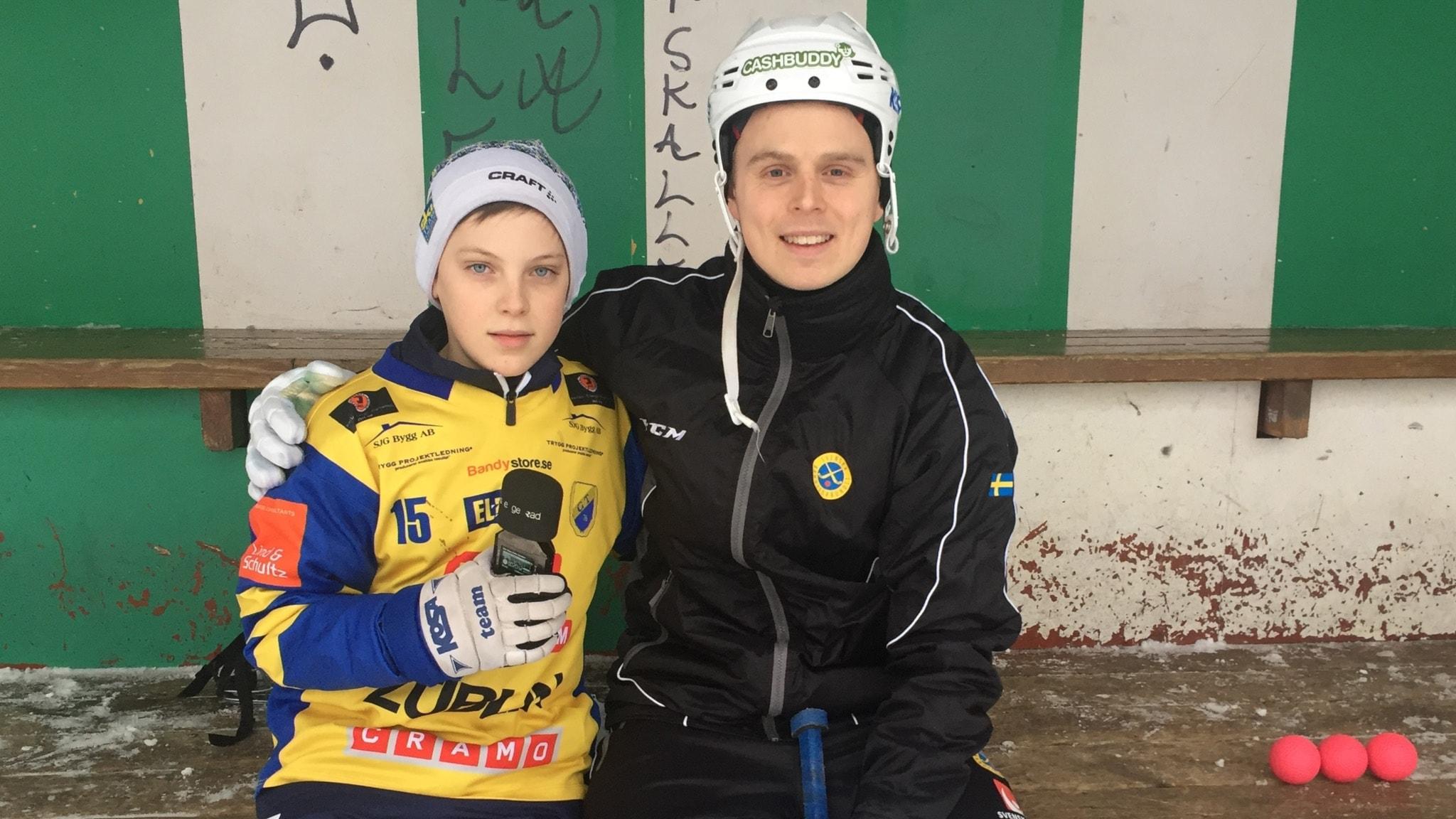 11-årige Olle får intervjua sin bandyidol