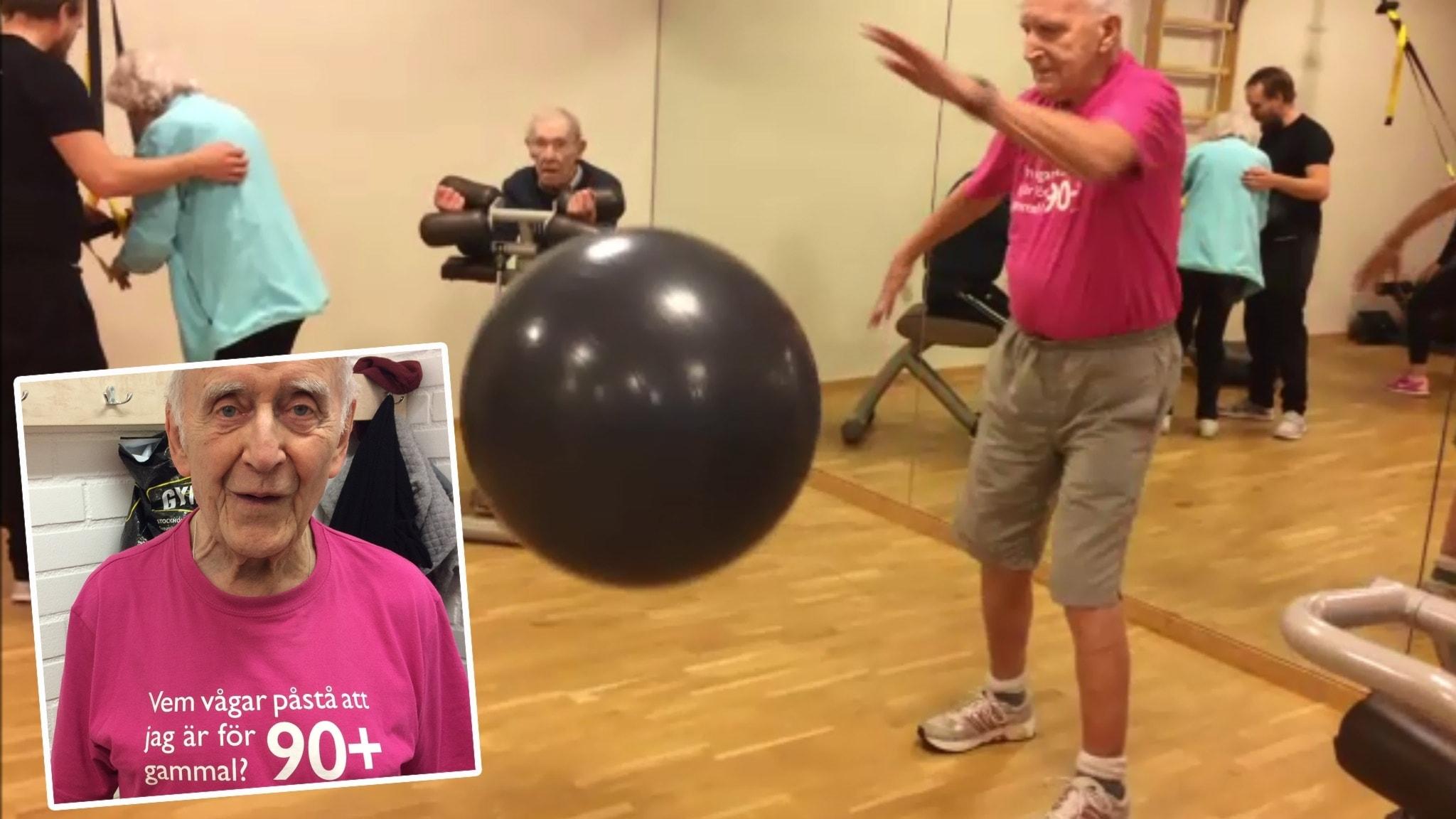 90-åringar på gym