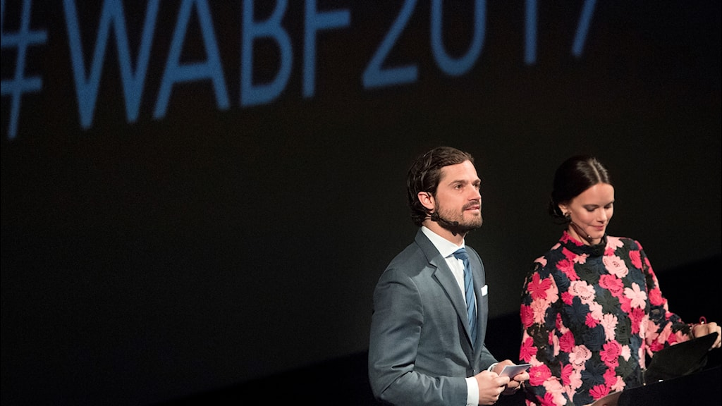 Prince Carl Philip and Princess Sofia gave the auguration speech at the World Anti-Bullying Forum 2017.