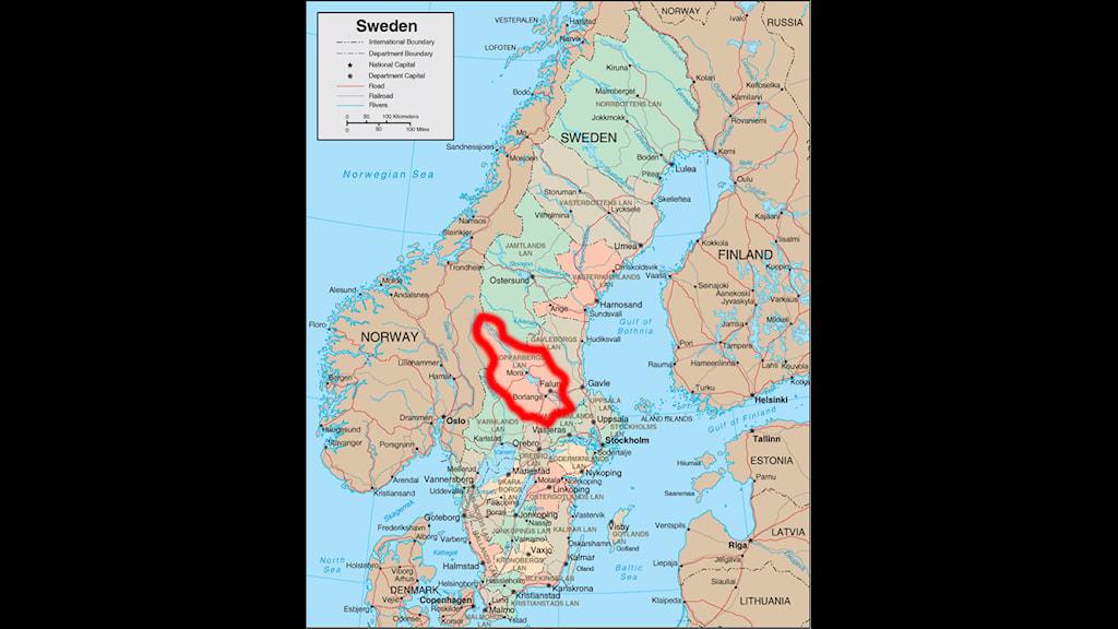 Dalarna Falun Mora Leksand And More Radio Sweden Sveriges - Sweden map mora