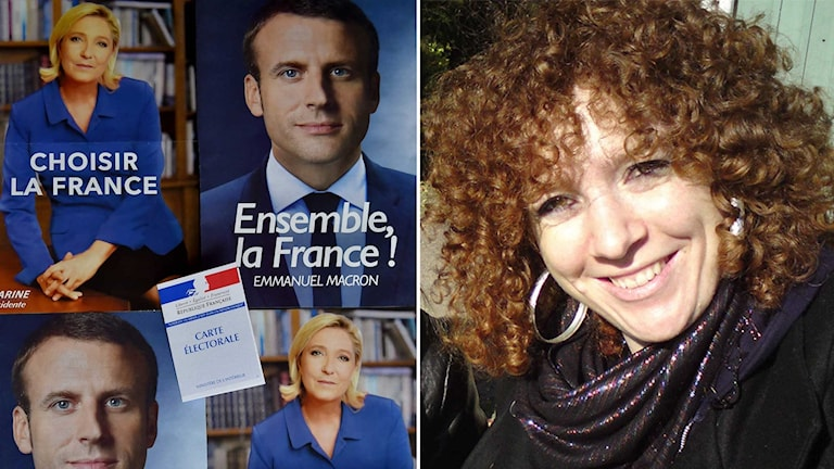 "Agnès Derderian (right) believes Emmanuel Macron is the ""least worst"" candidate."