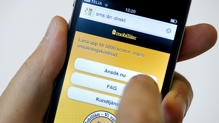 Loans via text message are on the increase. Photo: Jonas Ekströmer / TT