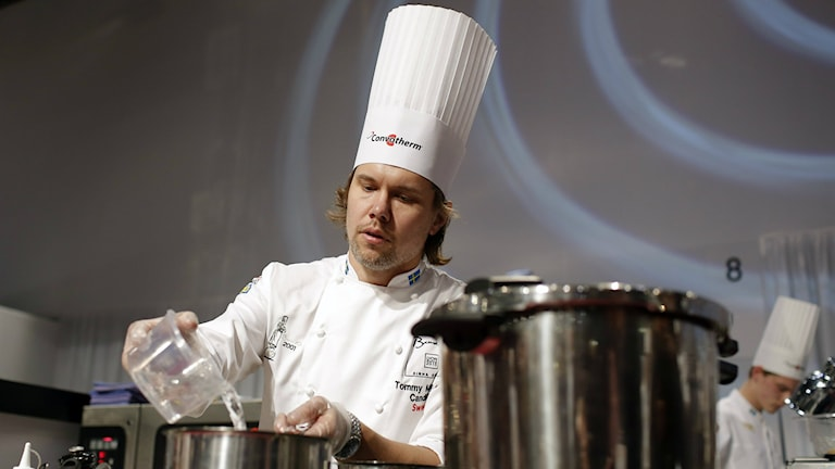 Tommy Myllymäki at Bocuse d'Or cooking championship 2015. Photo: Laurent Cipriani/AP.