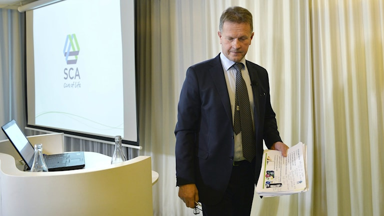 Jan Johansson resigned Tuesday as CEO of SCA. Photo: Henrik Montgomery / TT.