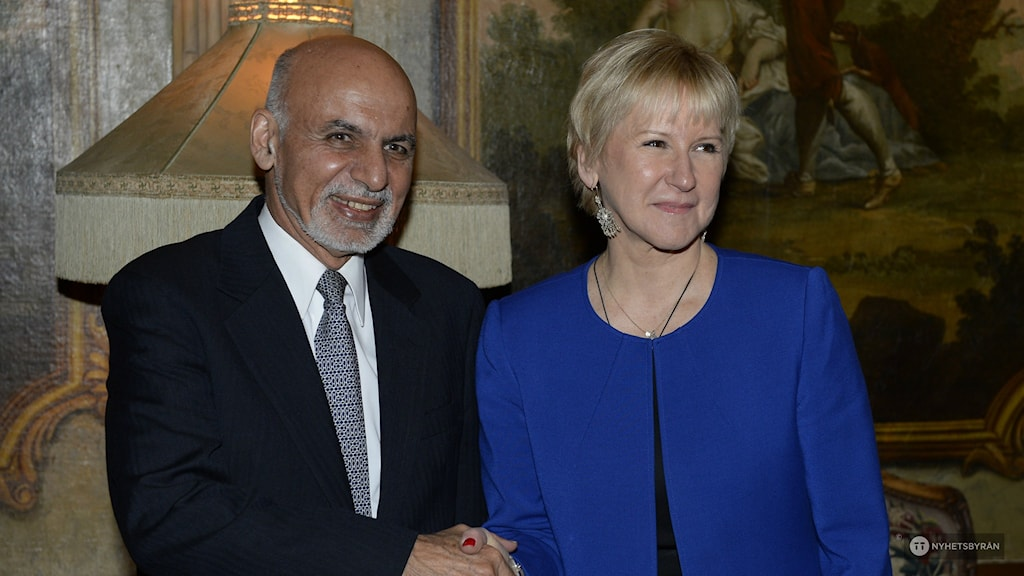 Afghan President Ashraf Ghani and Swedish Foreign Minister Margot Wallström, Photo: Anders Wiklund / TT