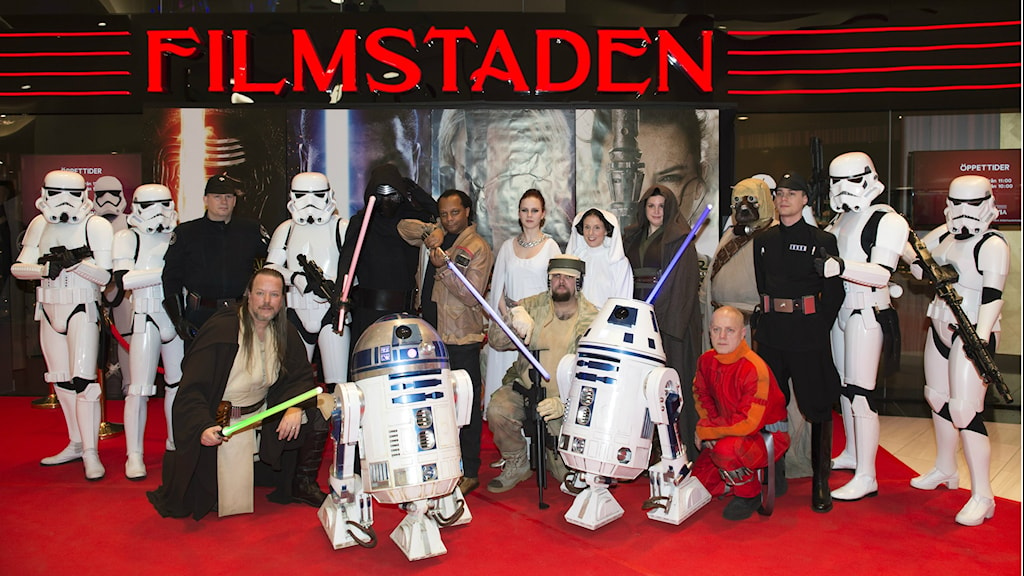 Fans at a viewing of Star Wars: The Force Awakens at Sweden's Mall of Scandinavia. Photo: Henrik Montgomery / TT.