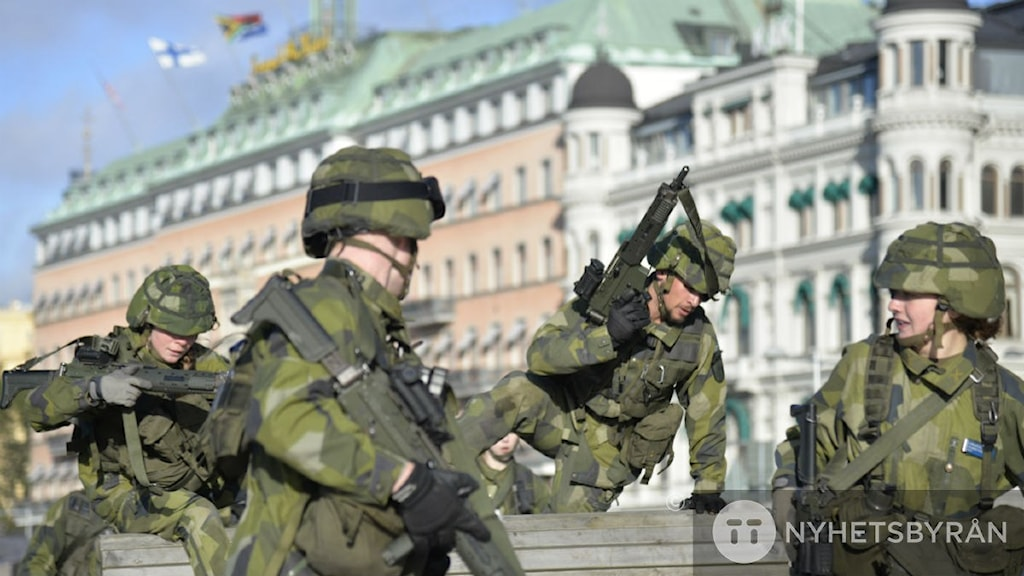 Military exercise in Stockholm. Photo: TT