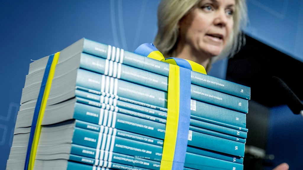 Finance Minister Magdalena Andersson presenting 2016's budget in the fall of last year. File Photo: Magnus Hjalmarson Neideman / SvD / TT.