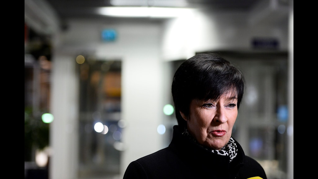 The government's national coordinator against violent extremism Mona Sahlin. Photo: Maja Suslin / TT.