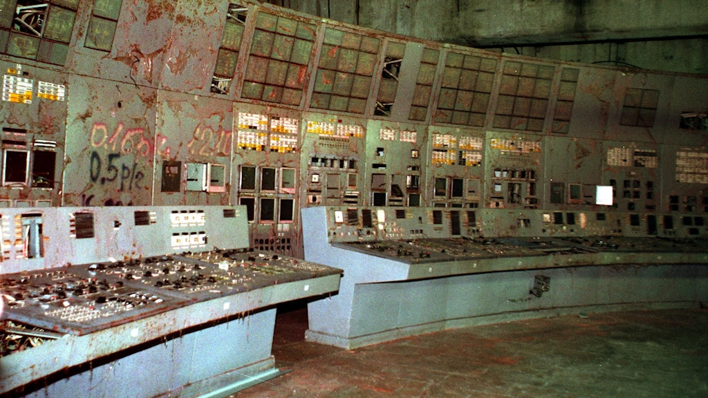 A photo of the remains of the control room for Reactor No. 4 at the Chernobyl nuclear power plant, seen in November, 2000. Photo: Efrem Lukatsky / AP.