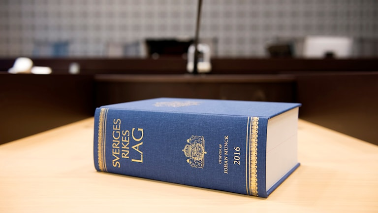 A law book in a Swedish court room. Photo: Henrik Montgomery / TT.