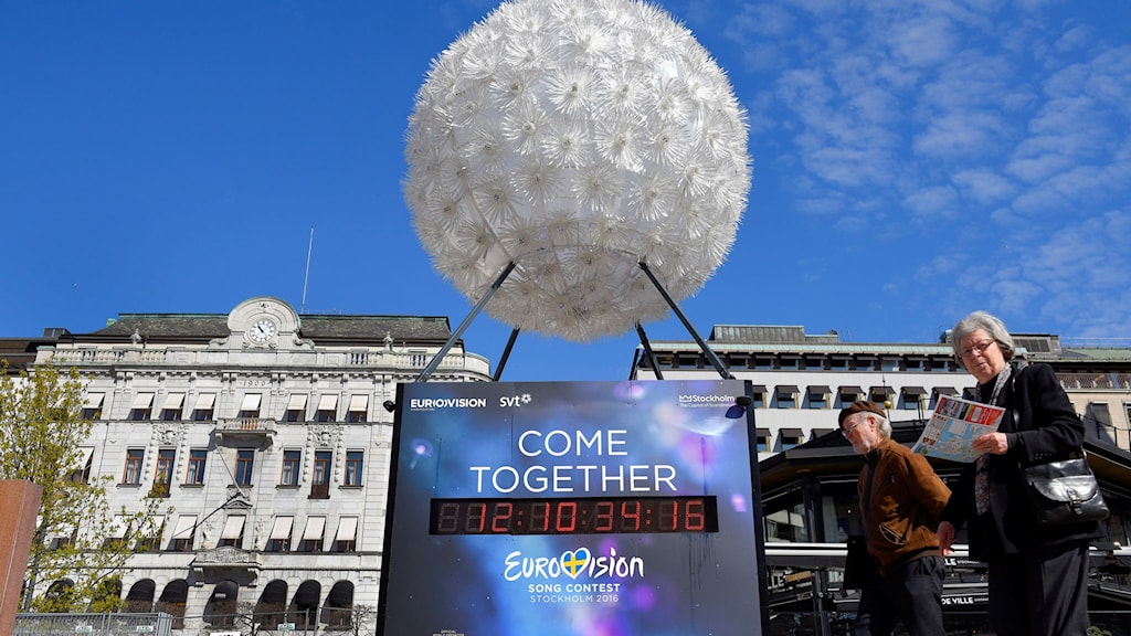 "Counting down to Eurovision Song Contest 2016 and the ""flower"" designed especially for this event. Photo: Anders Wiklund/TT"