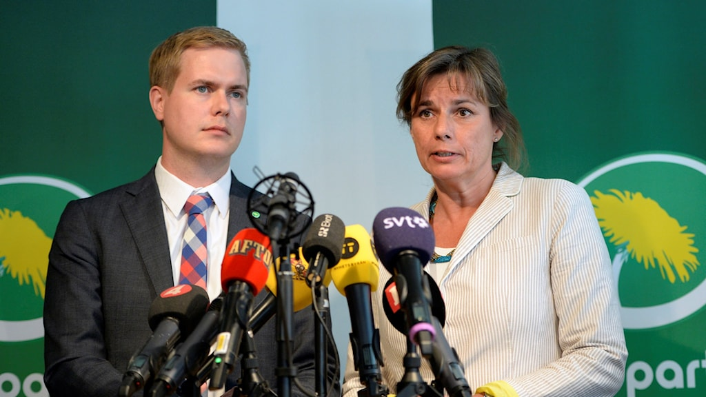 Gustav Fridolin and Isabella Lövin, proposed to be the new leaders of the Green Party. Photo: Jessica Gow/TT