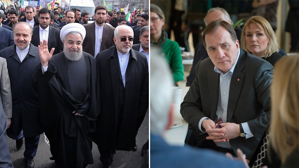 Iranian President Hassan Rouhani and Swedish Prime Minister Stefan Löfven.