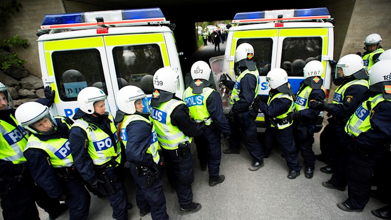 Recruits from Sweden's police academy training in Stockholm. File photo: Markus Dahlberg / TT.