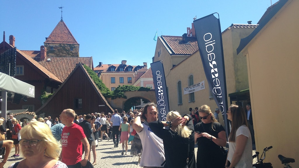 Swedish Radio area at Almedalen.