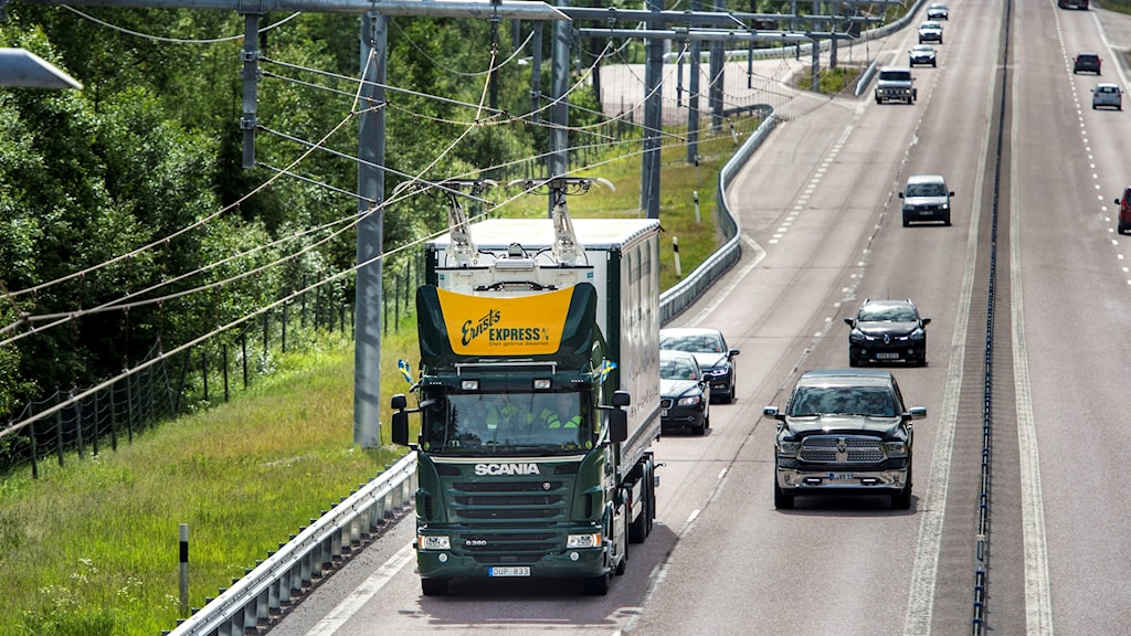 The electric highway outside Sandviken and Gävle. Photo: Pontus Lundahl/TT