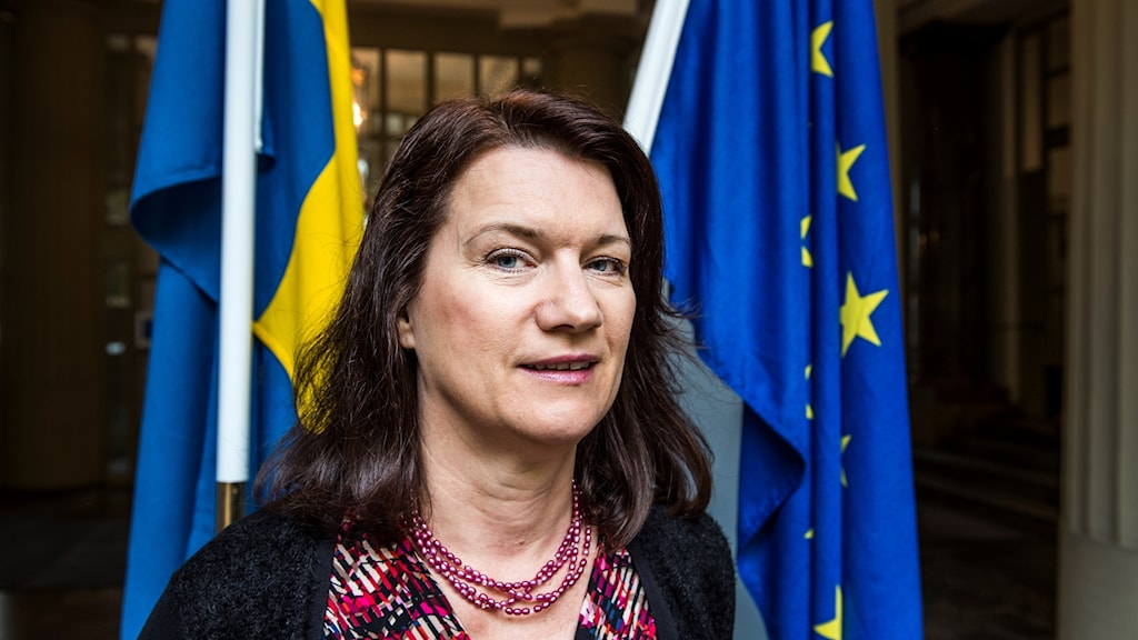 Ann Linde, Sweden's minister for EU affairs and trade, visited London ahead of Theresa May's Brexit speech.