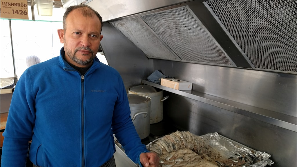 Hisham Fawaz sources his Baltic herring from a local fishing business.