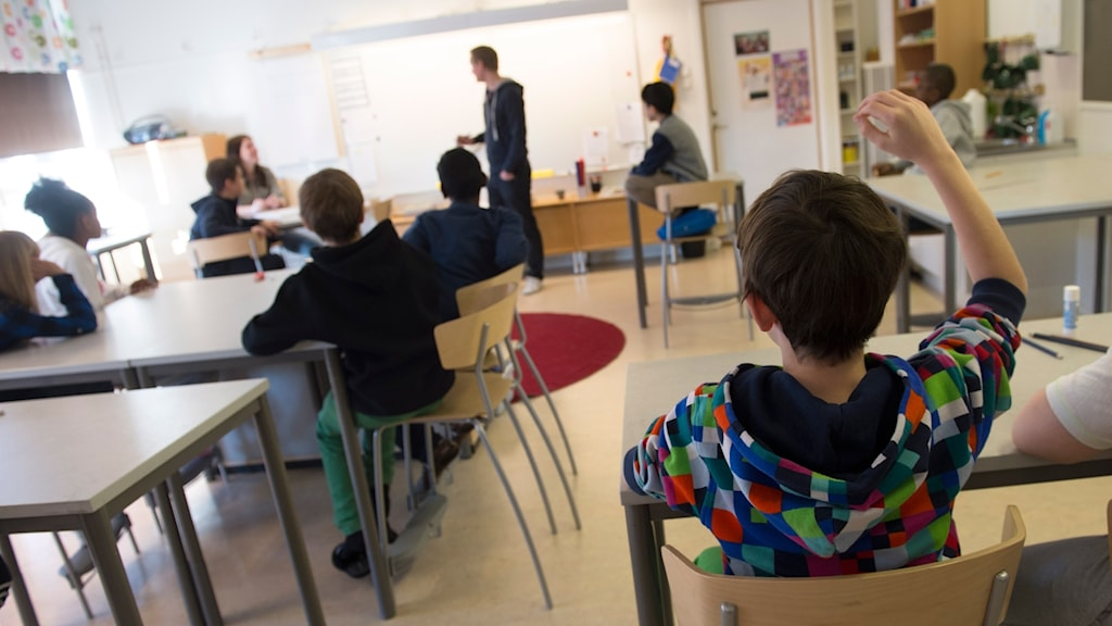 Students in a Swedish classroom.