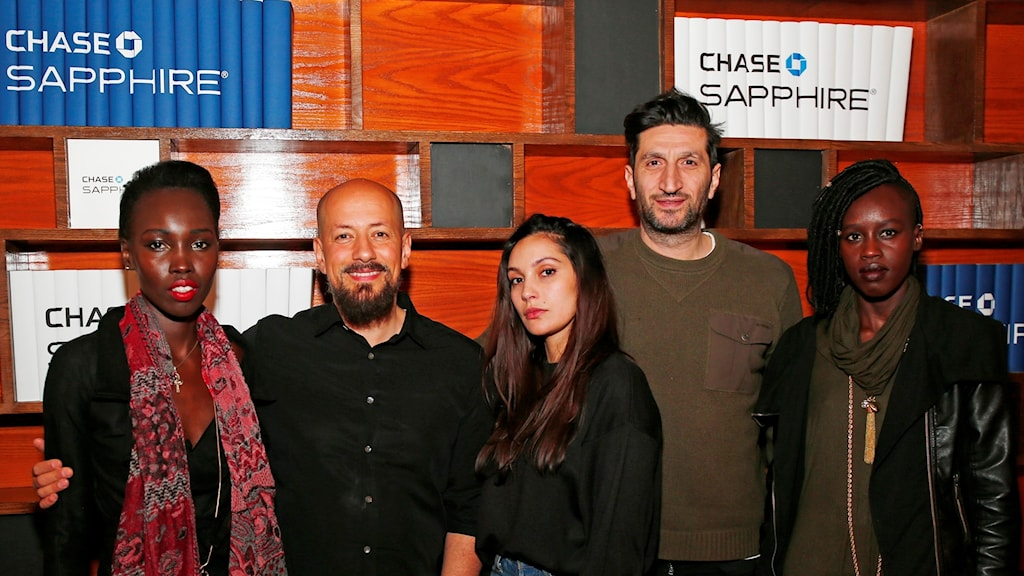 Actress Mari Malek, director Tarik Saleh, actress Hania Amar, actor Fares Fares and actress Elisabeth Arjok from The Nile Hilton Incident at the Sundance Festival 2017