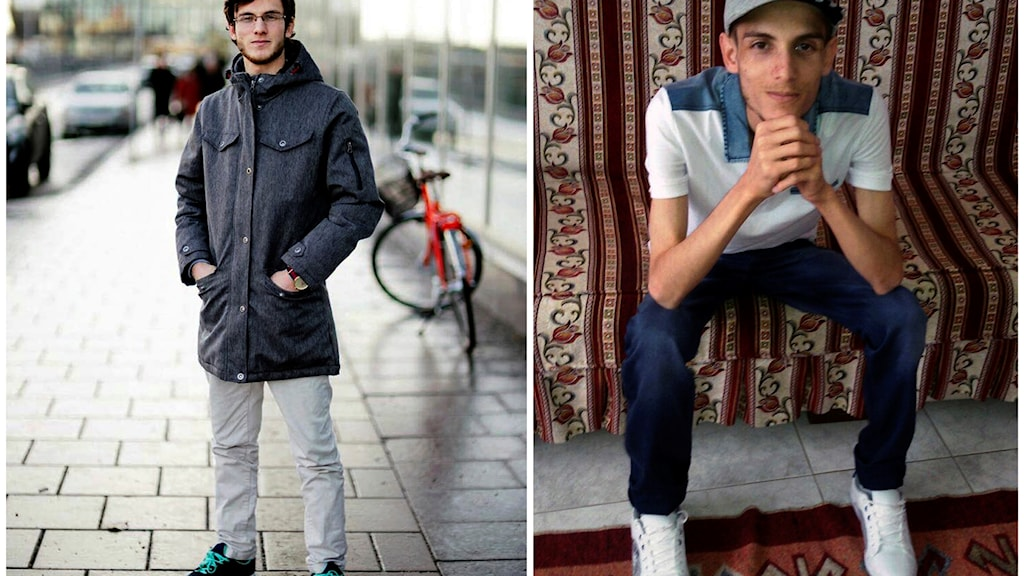 Omar Alshogre, a 21-year Syrian former detainee, now living in Stockholm, Sweden. The left picture is of Alshogre taken on January 2017 in Stockholm, Sweden. The right picture is of Alshogre in July 2015 in Antakya, Turkey, a month after he got out of Syria's Saydnaya prison, near Damascus.