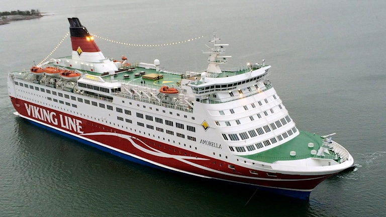 Viking Line-färja. Foto: AP Photo/ Lehtikuva, Finnish Border Guard/Rajavartiolaitos