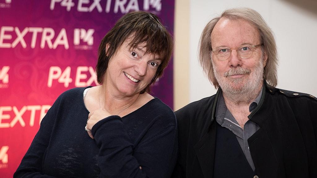 Lotta Bromé och Benny Andersson