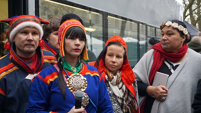 Sami Joiker Lars-Anders Kuhmunen and sámi activist Jenny Laiti was among them who joiked in London.