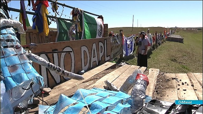 Standing Rock siouxs, North Dakota, demonstration mot oljeledningsbygge