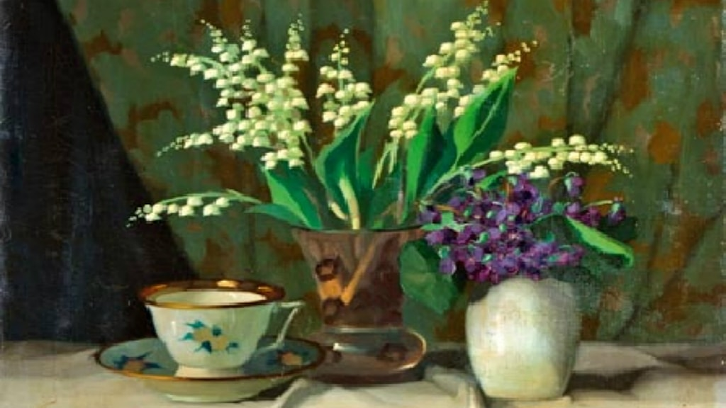 Lilies of the Valley. J P Molnár (1878-1924).