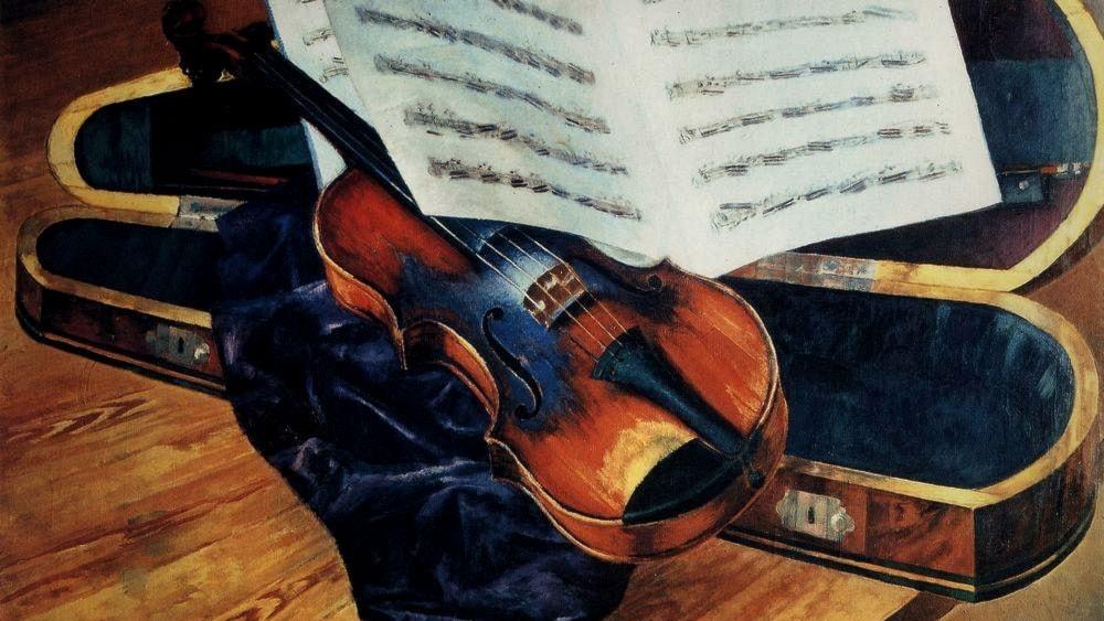 Fyra stråkar och sexton strängar spelar Brahms
