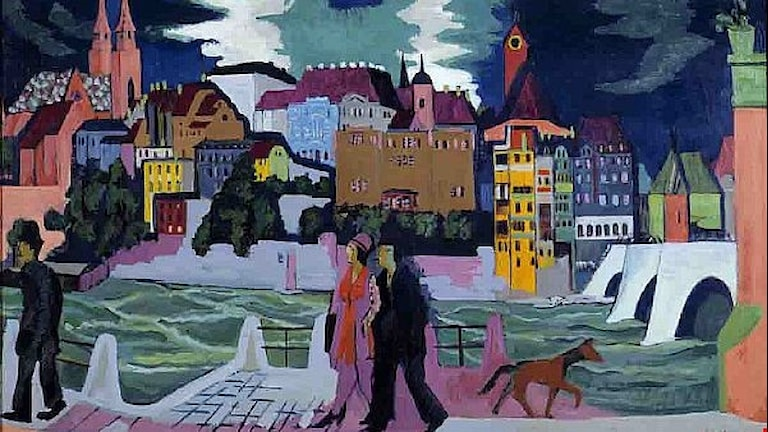 Ernst Ludwig Kirchner View of Basel and the Rhine