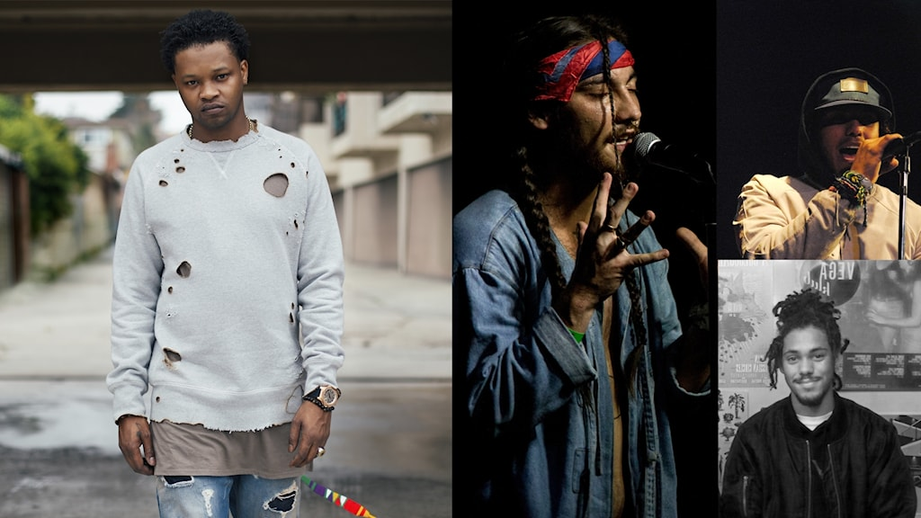 Bild på Bj The Chicago Kid, Towkio, Joey Purp och Kweku Collins