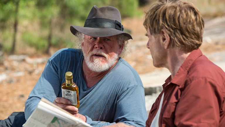 Nick Nolte och Robert Redford i A walk in the woods. Foto: Disney.