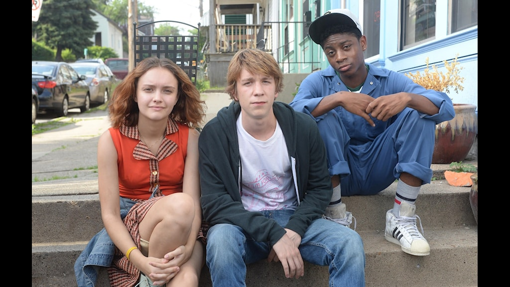 Olivia Cooke, Thomas Mann och RJ Cyler i Me and Earl and the Dying girl. Foto: Fox.