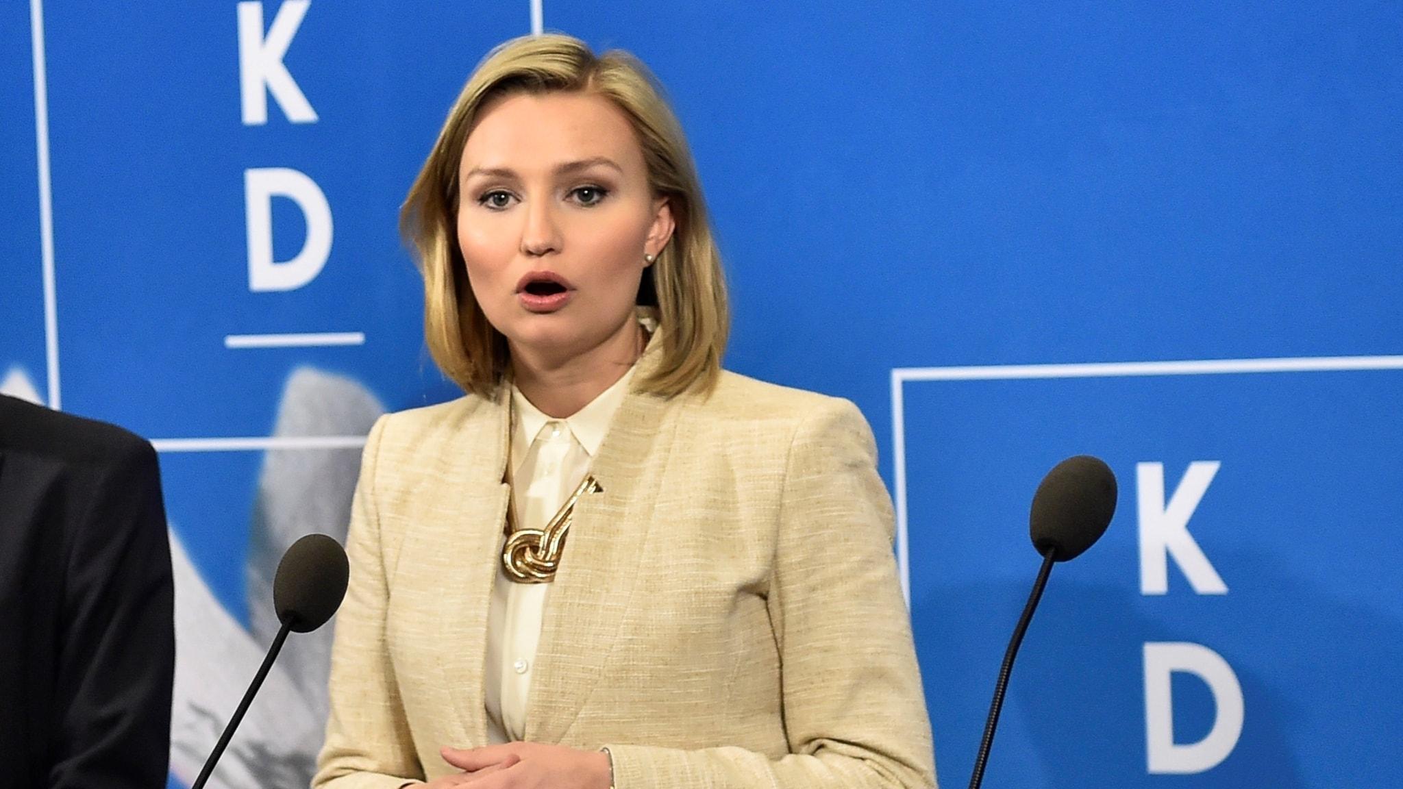 Ebba Busch Thor (KD) talar i Almedalen 2017