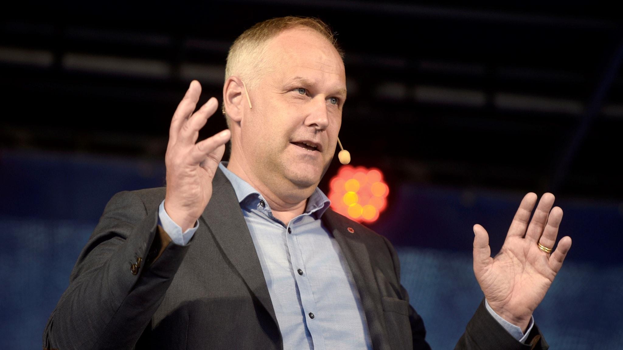 Jonas Sjöstedt (V) talar i Almedalen 2017