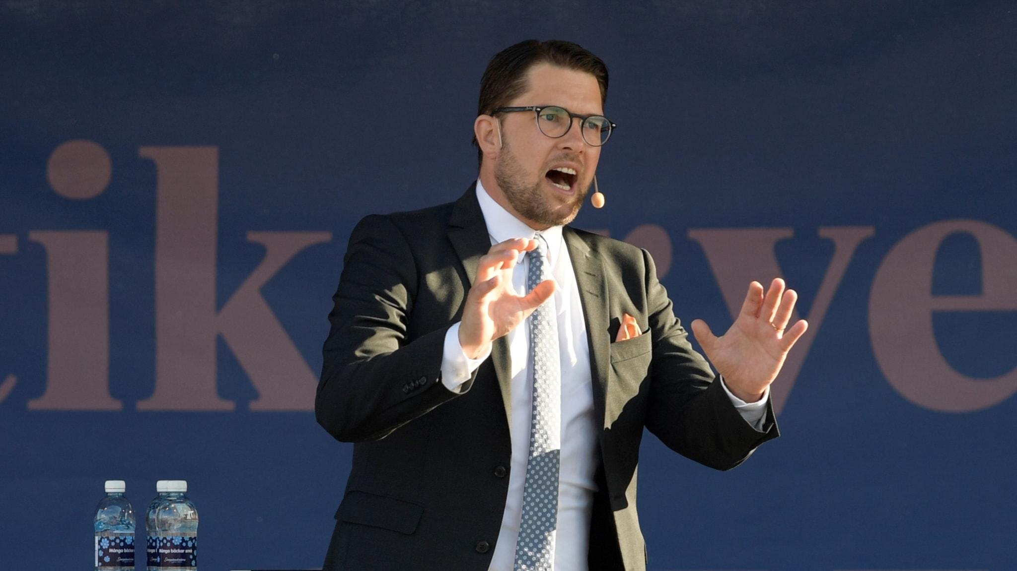 Jimmie Åkesson (SD) talar i Almedalen 2017